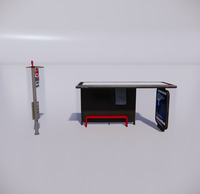 公交车站-现代公交车站-8